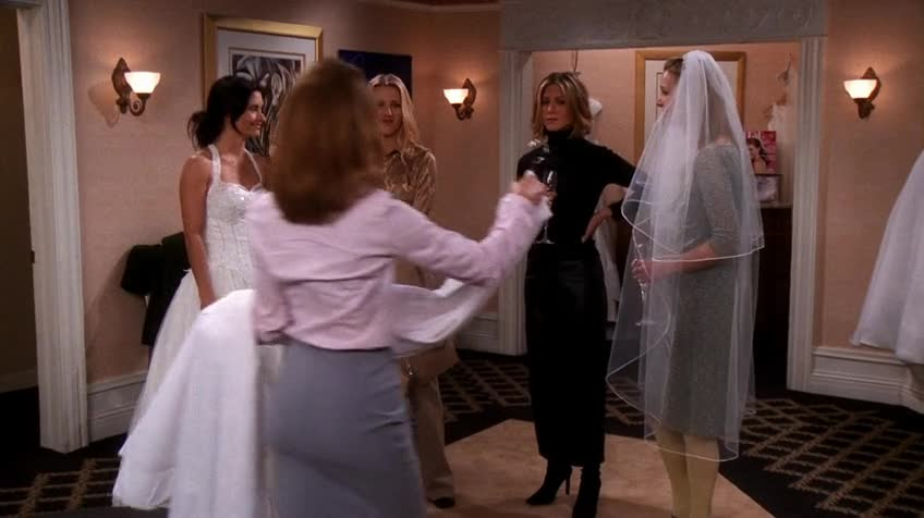 老友记/六人行/Friends 第七季 第十七集 S07E17 The One with the Cheap Wedding Dress / 婚纱大减价