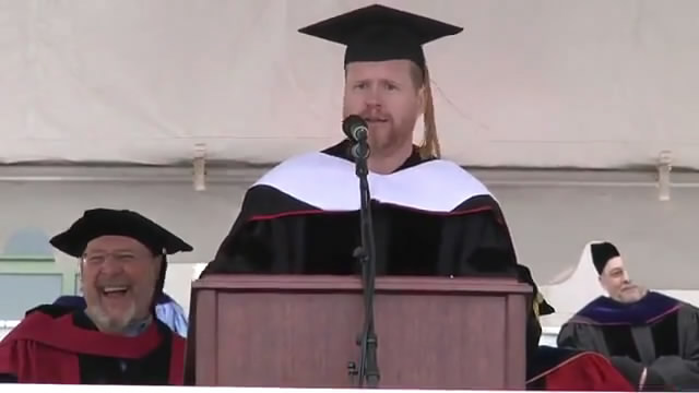 Joss Whedon '87 - 2013 Wesleyan University Commencement Speech - Official/乔斯·韦登卫斯理大学2013届毕业典礼演讲